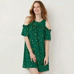 Lauren Conrad floral cold shoulder dress
